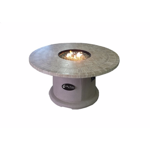 BayPointe Outdoors Travertine Series (Natural Stone) Fire Table