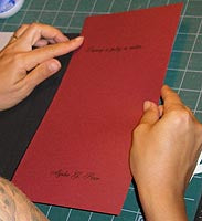 Cover Inlay Process by Transient Books