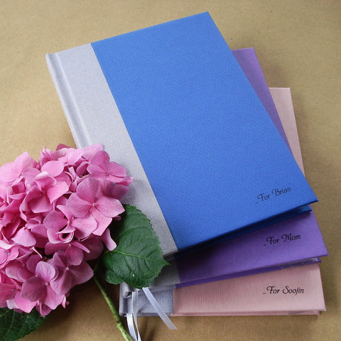 Custom Blank Journal · Personalized Notebook · DIY Travel Diary - Design your own. Made to order.