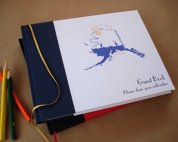 Deluxe Custom Wedding Guest Book · Your photo, logo or text on cover · Exquisite Options - Transient Books