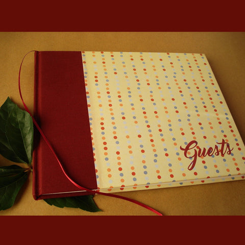 SALE! Playful Polka Dot Guest Book for Every Occasion · Handcrafted, heirloom quality.