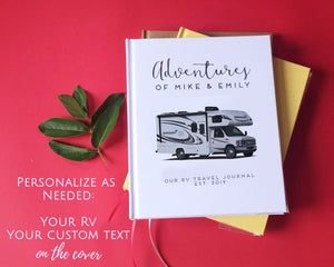 FREE SHIPPING Custom RV Travel Journal · Road Trip Planner · Gift for Rvers, Retirees - Transient Books