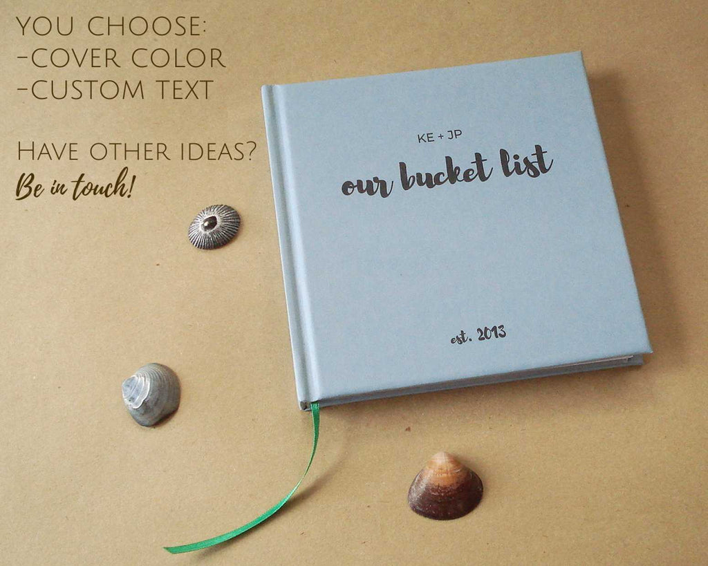 Custom Our Bucket List Journal Paper Anniversary Gift Notebook Transient Books