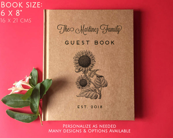 FREE SHIPPING Custom Family Home Guest Book · Gift for New Home · Vacation Home Guest Book · Rental AirBnB · VRBO, Cabin · Lake House