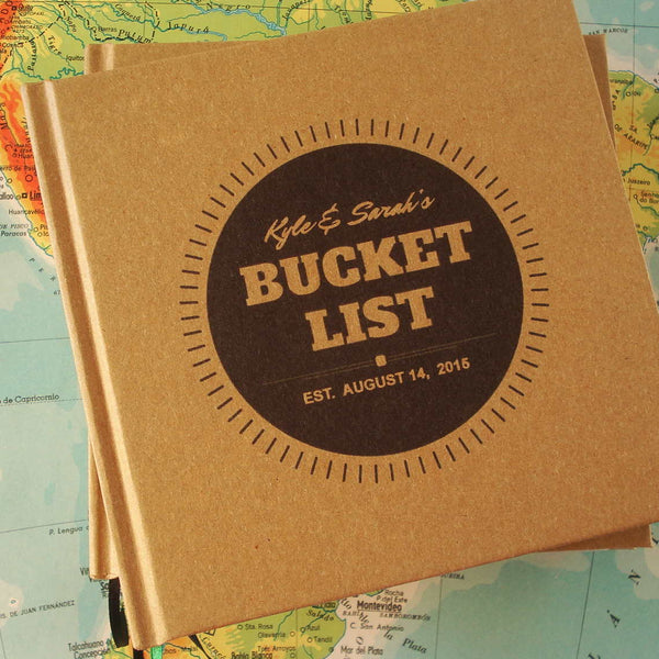 CUSTOM Our Bucket List Anniversary Gift Journal · DIY Wedding Anniversary Notebook - Transient Books