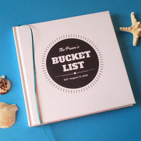 CUSTOM Our Bucket List Journal · Paper Anniversary Gift · DIY Wedding Anniversary Notebook