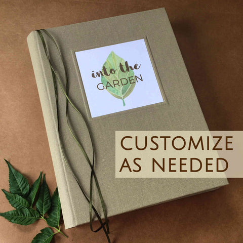 Exquisite Oversized Custom Journal · Large Sketchbook for Artists · Personalized Multi Purpose Notebook.