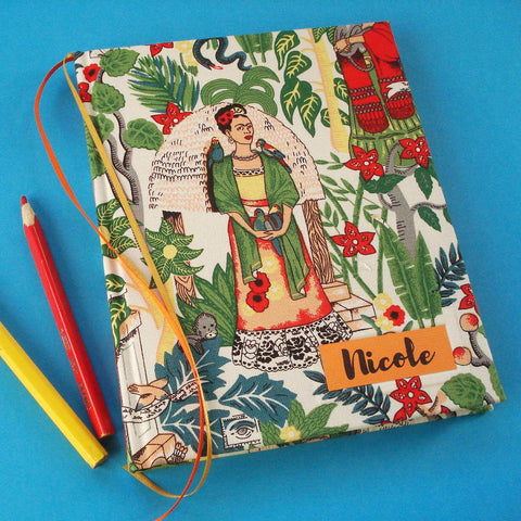 Custom Frida Kahlo Sketchbook · I Love Mexico Travel Journal · Personalized Notebook