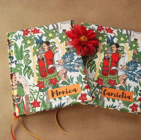 Custom Frida Kahlo Sketchbook · I Love Mexico Travel Journal · Personalized Notebook · Transient Books