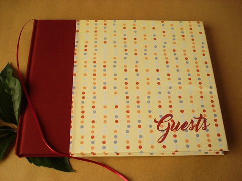 SALE! Playful Polka Dot Guest Book for Every Occasion · Handcrafted, heirloom quality. - Transient Books