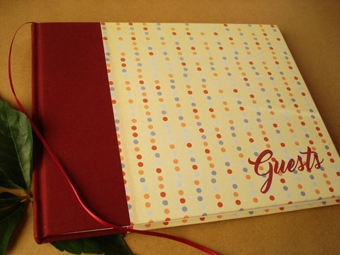 SALE! Playful Polka Dot Guest Book for Every Occasion · Festive party Decor - Transient Books