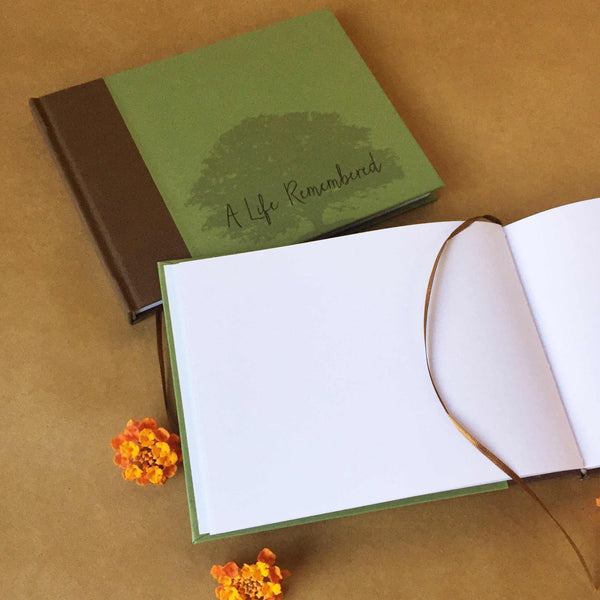 FREE SHIPPING · Memorial Service Guest Book · A Life Remembered· Celebration of Life · Funeral Gift - Transient Books