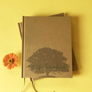 FREE SHIPPING Celebration of Life Guest Book · A Life Remembered· Memorial Service, Funeral Registry - Transient Books