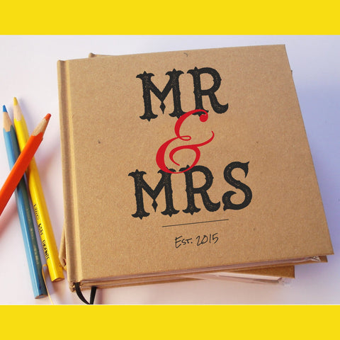 Custom Wedding Guest Book · Wedding Notebook · Bridal Memory Book · Wide Variety of Cover Designs - Transient Books