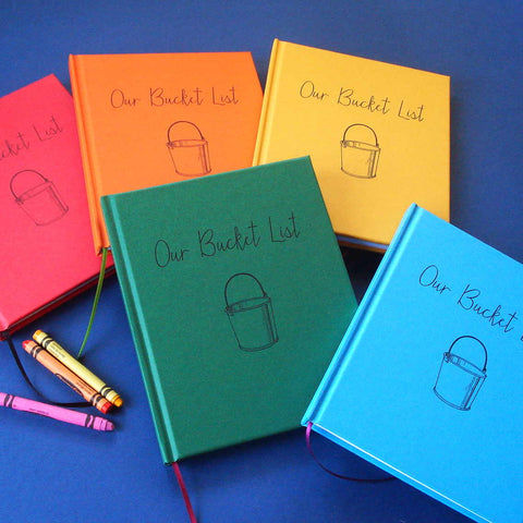Wide Array of Colors! Our Bucket List Journal · Paper Anniversary Gift Diary