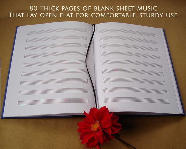 Custom Musician's Notebook · DIY Composer's Journal · Gift for Musicians & Composers · Blank Sheet Music Notebook - Transient Books