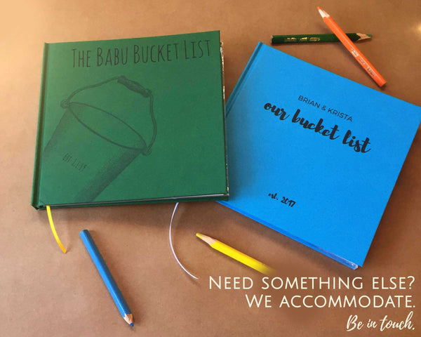 CUSTOM Our Bucket List Journal · Personalized Paper Anniversary Gift · DIY Wedding Anniversary Notebook - Transient Books