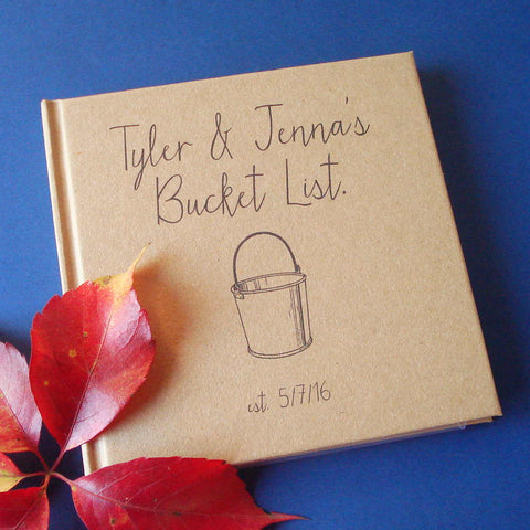 CUSTOM Our Bucket List Journal · Paper Anniversary Gift · Wedding Anniversary Keepsake - Transient Books