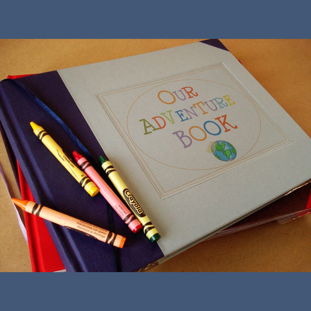 Our Adventure Book Cover Diy : Custom our adventure book · up travel scrapbook