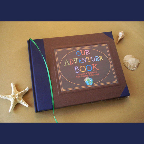 CUSTOM Our Adventure Book · UP! · DIY Travel Scrapbook · Anniversary Keepsake Journal · Adventure Wedding Gift