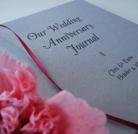 Custom First Anniversary Gift * Paper Wedding Anniversary Gift Journal - Transient Books