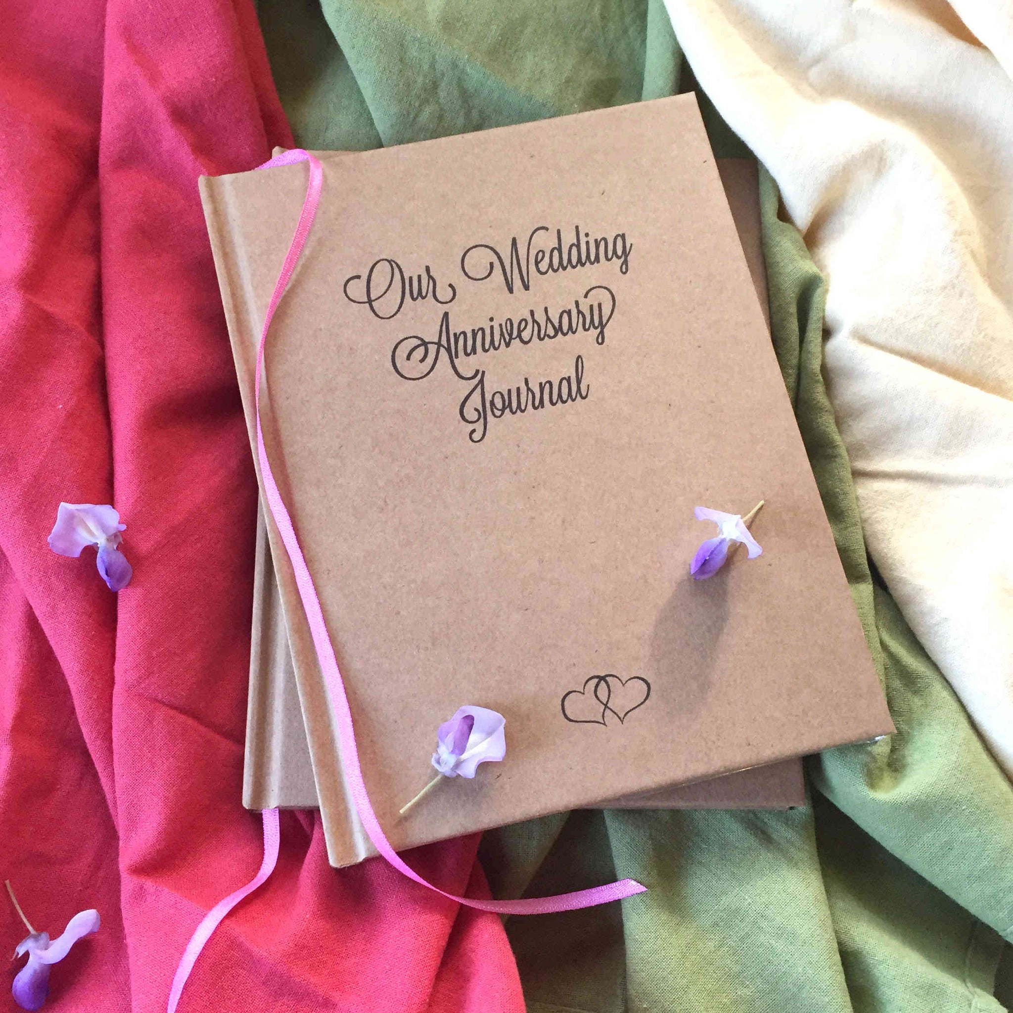 FREE SHIPPING Our Wedding Anniversary Journal ·  First Anniversary Gift · Paper Anniversary Book - Transient Books