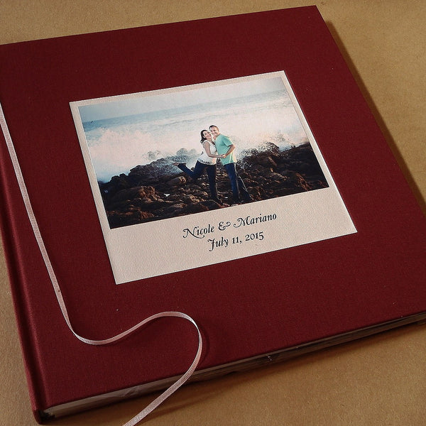 Custom Wedding Photo Booth Guest Book Album · Marriage Scrapbook· Personalized Anniversary Keepsake - Transient Books