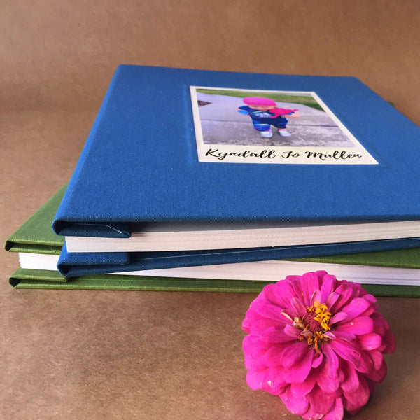 Personalized Baby Album, REFILLABLE · Post Bound Baby Scrapbook · Keepsake for Baby's First Year - Transient Books