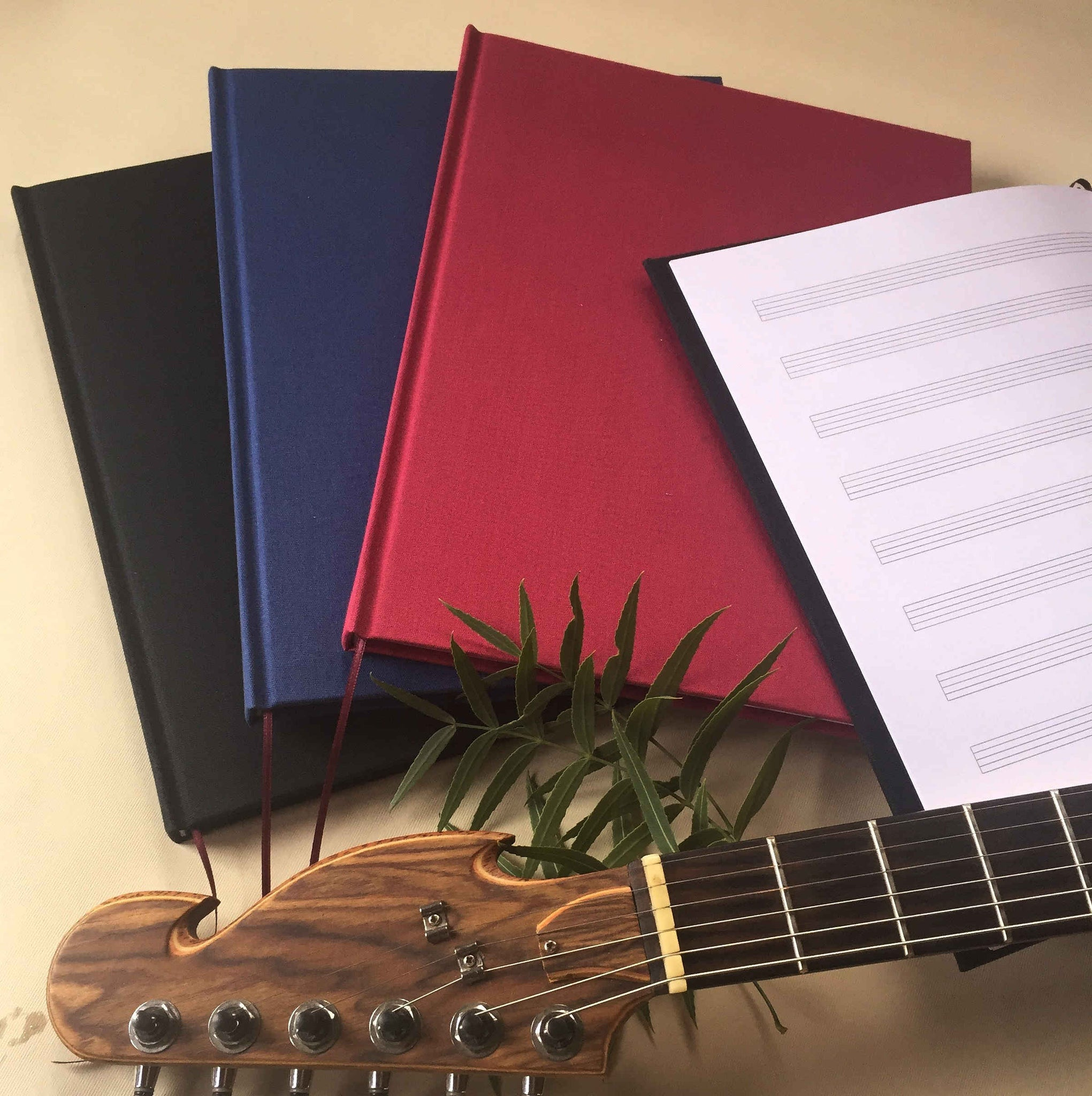 FREE SHIPPING Timeless Composer's Journal. Blank Sheet Music Notebook. Gift for Musician. - Transient Books