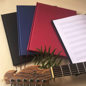 FREE SHIPPING Timeless Composer's Journal. Music Diary. Blank Sheet Music Notebook. Gift for Musician. - Transient Books
