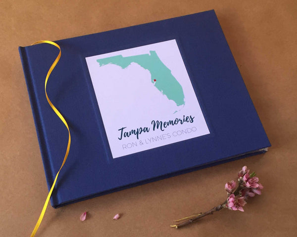 FREE SHIPPING Custom Vacation Home Guest Book · Family Cabin Guest Book · Gift for New Home Owners - Transient Books