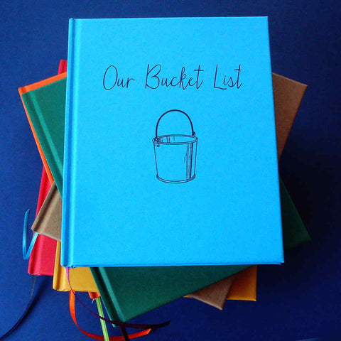 FREE SHIPPING · Wide Array of Colors! Our Bucket List Journal · Paper Anniversary Gift Diary - Transient Books