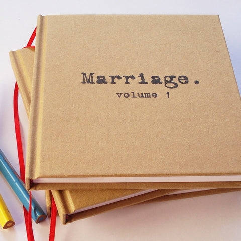 Free Shipping · MARRIAGE, Volume 1. Our First Anniversary Gift · Paper Anniversary Journal · Wedding Anniversary Keepsake
