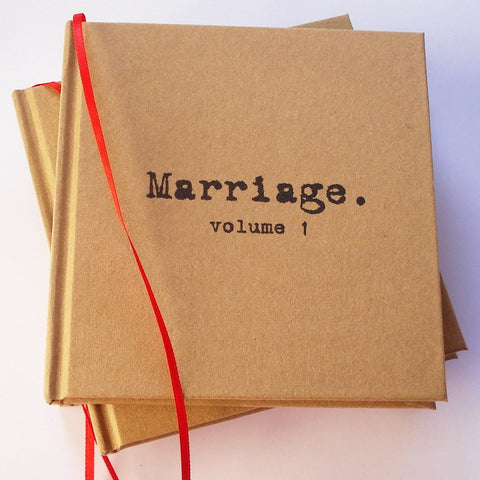 MARRIAGE, Volume 1. Our First Anniversary · Paper Anniversary Journal · Wedding Anniversary Keepsake - Transient Books