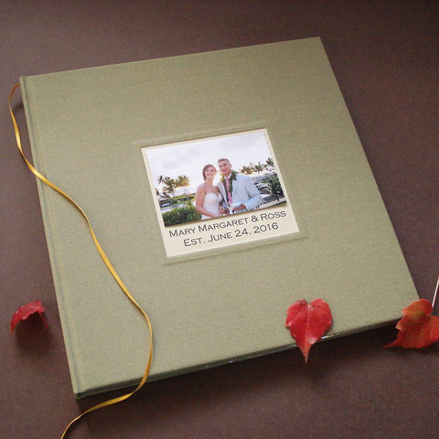 Custom Wedding Photo Booth Guest Book Album · Marriage Scrapbook · Personalized Anniversary Keepsake Scrapbook - Transient Books