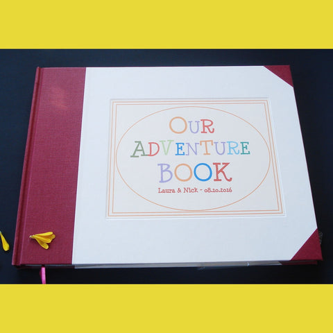 CUSTOM Our Adventure Book · UP! · Travel Scrapbook · Anniversary Keepsake Journal · Adventure Wedding Gift