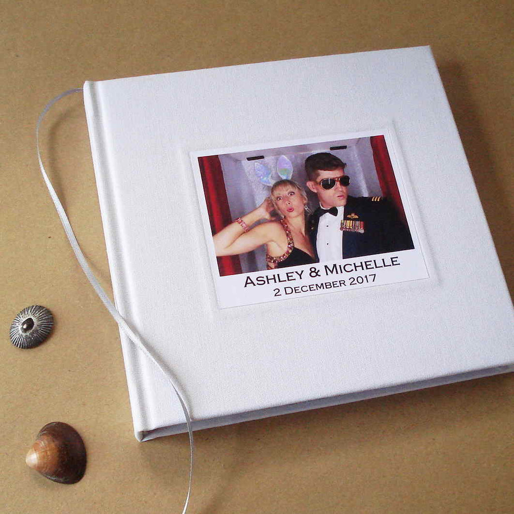 Custom Wedding Photo Booth Guest Book Album Marriage Scrapbook