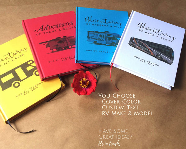 FREE SHIPPING Custom RV Travel Journal · Road Trip Planner Notebook · Retirement Gift for Travelers - Transient Books