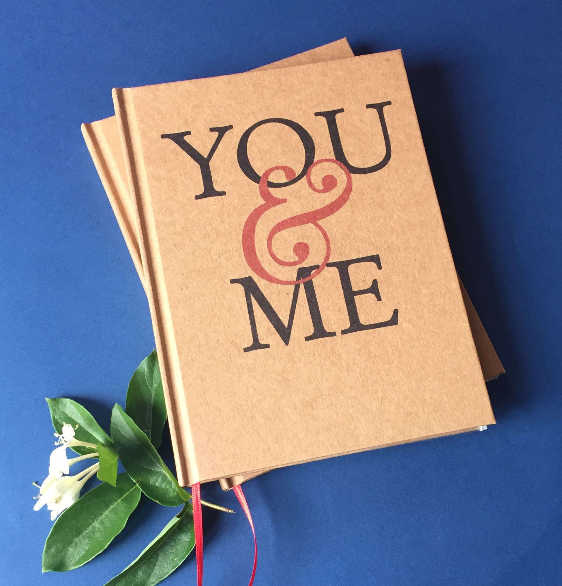 Free Shipping · YOU & ME · Wedding Anniversary Gift Journal · Paper Anniversary Keepsake - Transient Books