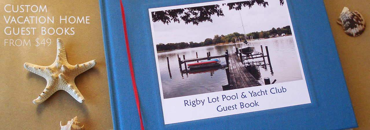 Custom Vacation Home Guest Books - Air Bnb Guest Book - Family Cabin Sign In Book