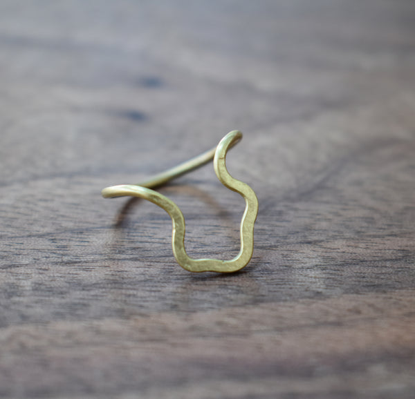 Organic Forged Brass Ring