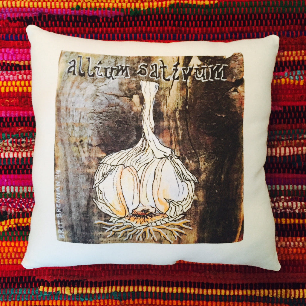 Allium Sativum Garlic Pillow