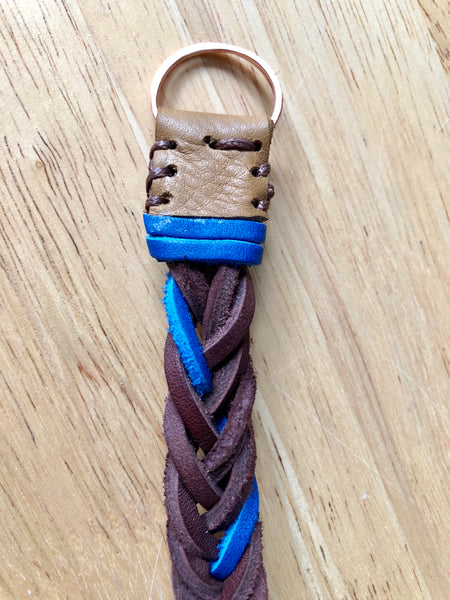 Large Adjustable Recycled Leather Bracelet | One of a Kind