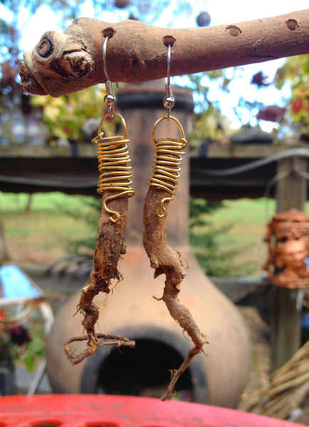 Tulsi Root Earrings