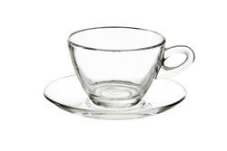 Set of 2 Cappuccino Cup and Saucer Set