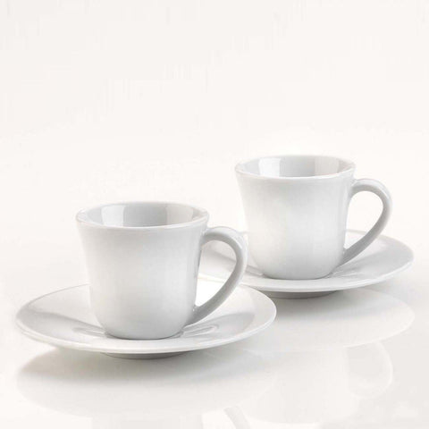 Alessi KU Coffee Cup and Saucer Set of 2