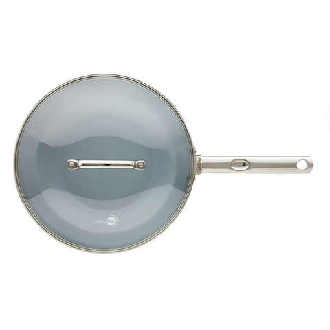 Non Stick 28cm Wok with Glass Lid