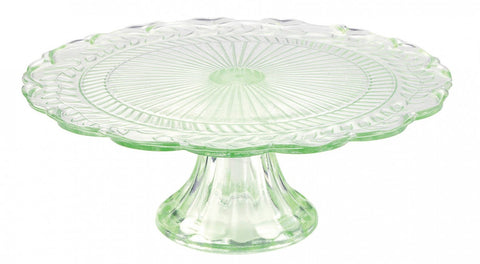 medium glass cake stand