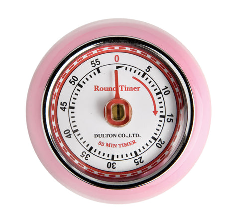 Pink Magnetic Retro Timer