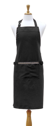 Professional Chef Kitchen Apron Black